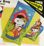 Snoopy Sleeping Bag / Comforter With Free Flashlight!