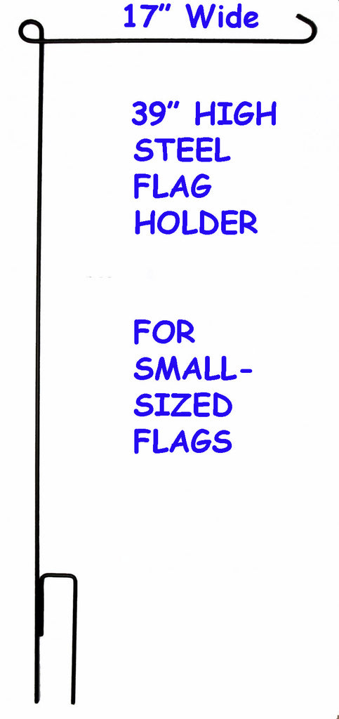 "Steel Flag Holder Stand For Small-Sized Flags (17"" Wide)"