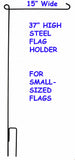 "Steel Flag Holder Stand For Small-Sized Flags (15"" Wide)"
