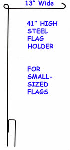 "Steel Flag Holder Stand For Small-Sized Flags (13"" Wide)"