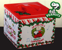 Peanuts Gang Christmas Snack Canister
