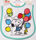 Snoopy Balloons Snap Neck Bib