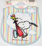 Snoopy Stork Snap Neck Bib