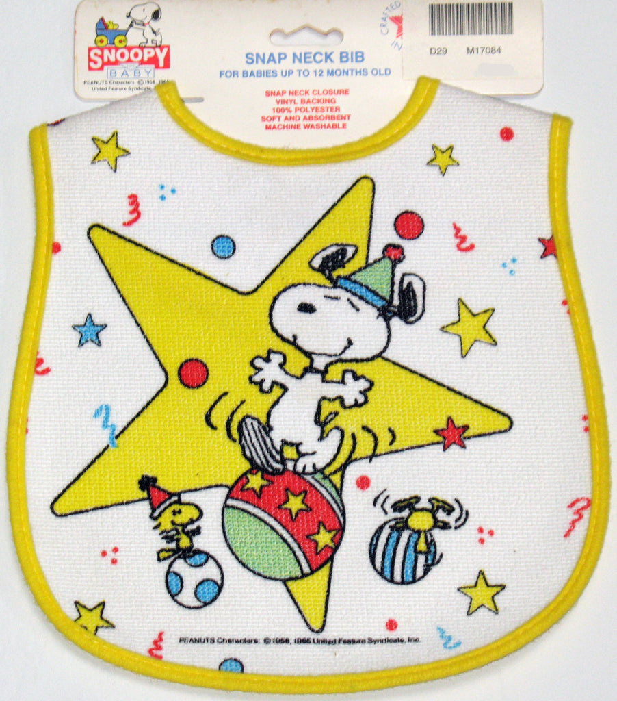 Snoopy Circus Snap Neck Bib