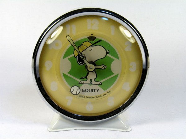 Snoopy Baseball Alarm Clock