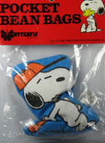 Snoopy Baseball Player Pocket Bean Bag