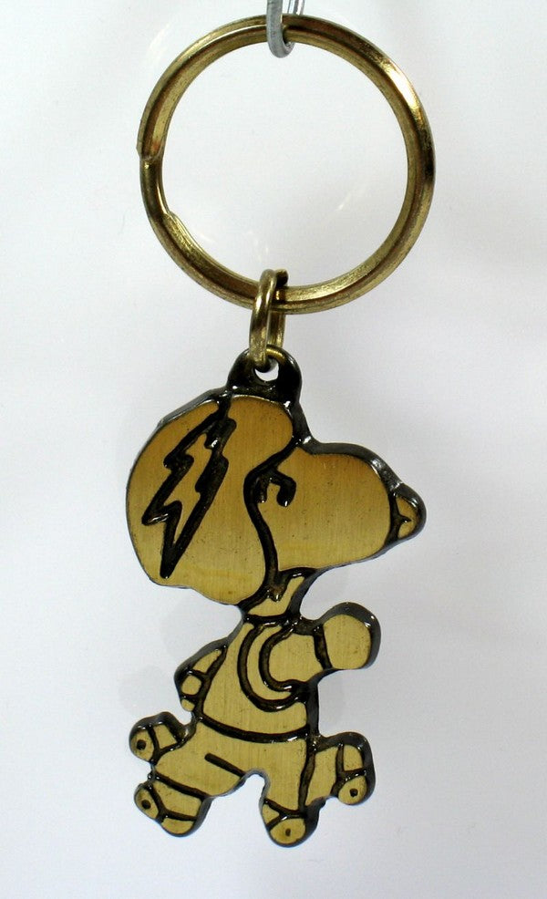 SNOOPY SKATER Brass Key Chain