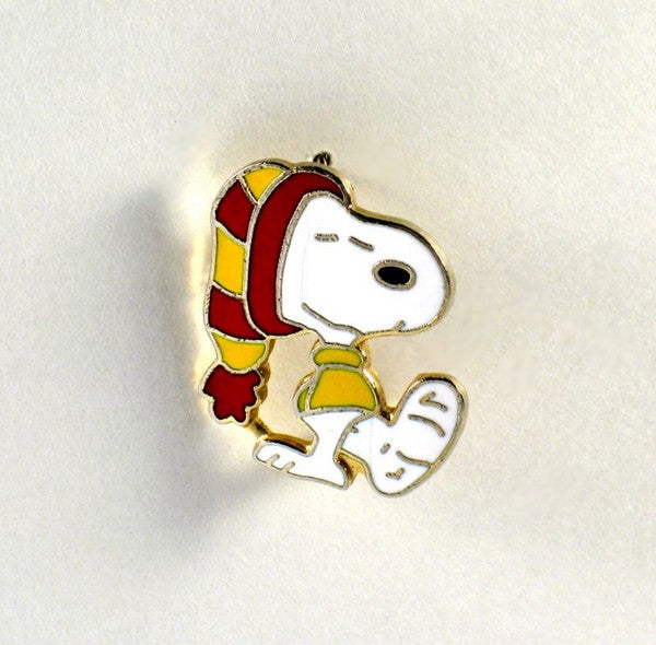Snoopy Wearing Leg Cast Cloisonne Pin