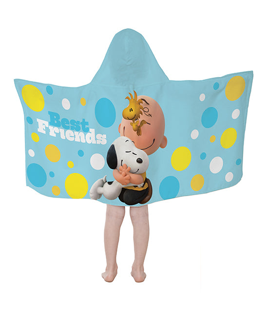Snoopy and Charlie Brown Best Friends Hooded Towel