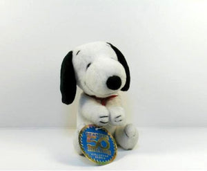 2000 Wendy's Fast Food Toy - Snoopy Plush Clip-On Doll
