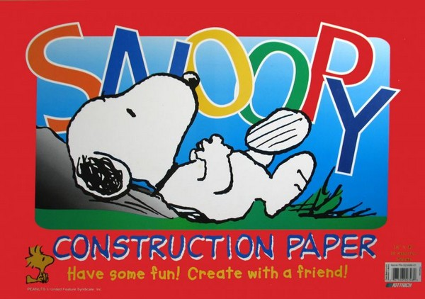 Snoopy Extra Large Construction Paper Pad