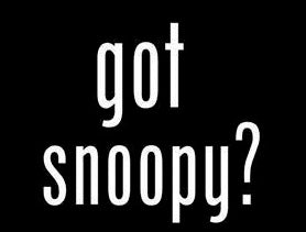 """Got Snoopy?"" Die-Cut Vinyl Decal - White"