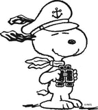 Snoopy Sailor Die-Cut Vinyl Decal - Black