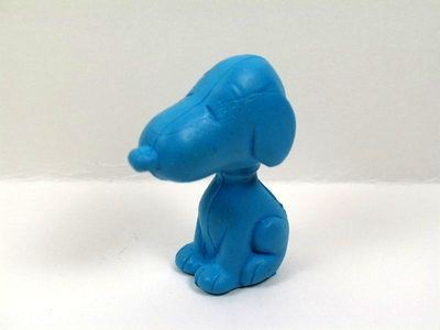 Snoopy Shaped Eraser - Blue