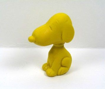 Snoopy Shaped Eraser - Yellow