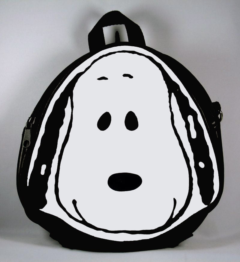 Snoopy Face Vinyl Shoulder Purse
