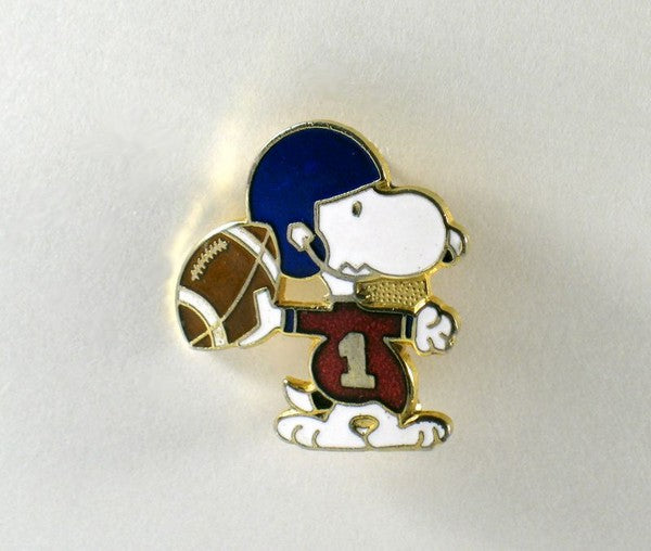 Snoopy Football Player Cloisonne Pin
