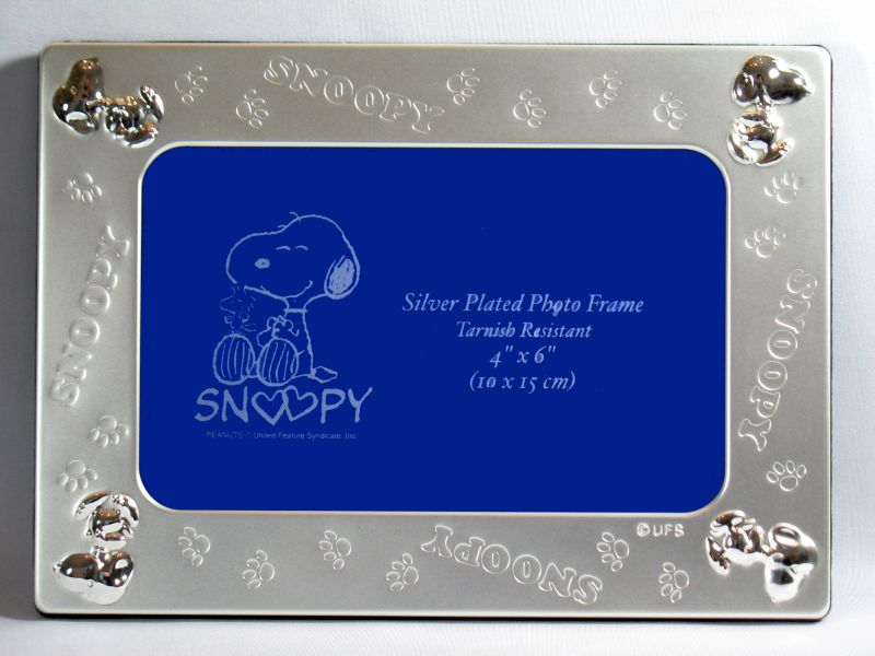 Snoopy Silver Plated Picture Frame