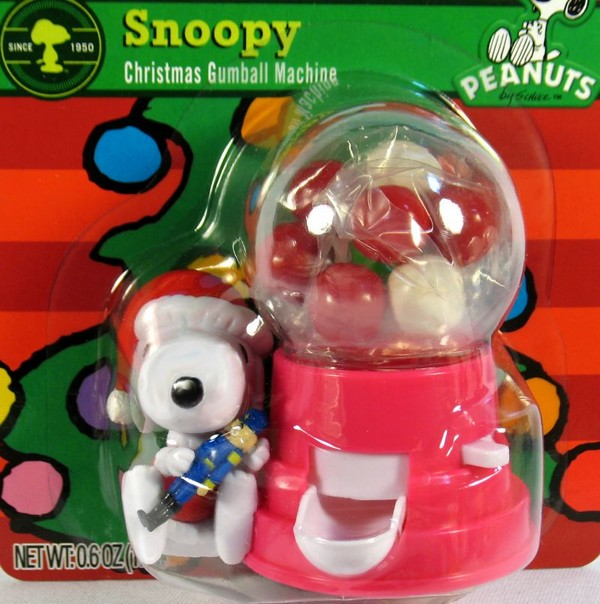 Snoopy Santa Mini Gumball Machine