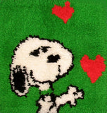 Snoopy Hearts Latch Hook Wall Hanging or Seat Cover