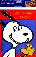 Snoopy Birthday Party Invitations