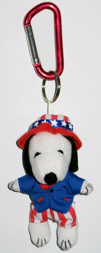 Snoopy Uncle Sam Plush Caribiner Key Chain