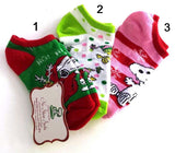Kids Snoopy Santa Socks (Size 7 1/2-3 1/2)