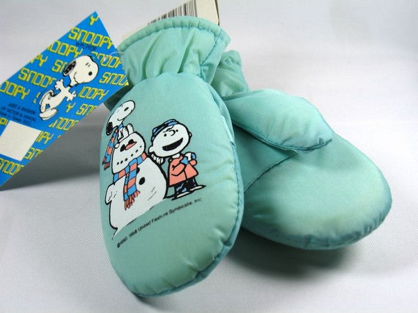 Snoopy Snowman Infant Mittens