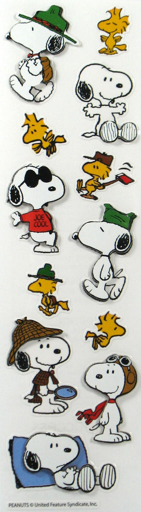 Snoopy Dimensional Stickers / Scrapbook Embellishments