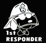 """First Responder"" Snoopy Die-Cut Vinyl Decal - White"