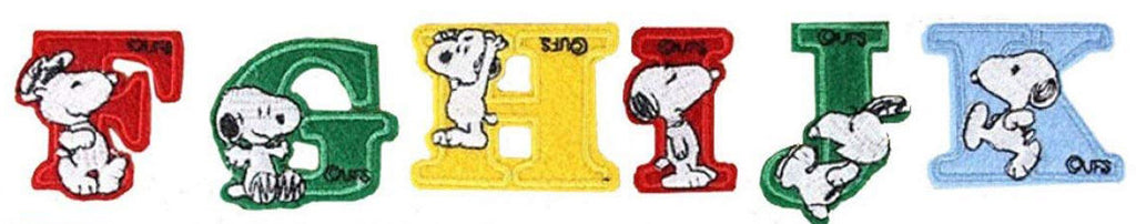 SNOOPY ALPHABET PATCH (F-K)