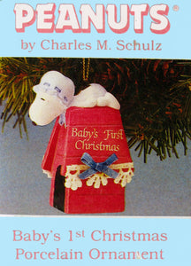 1987 Baby's First Christmas Snoopy Ornament