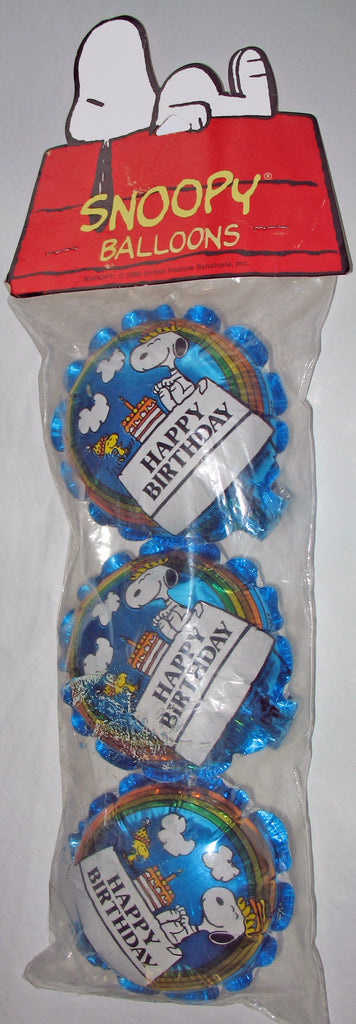 Snoopy Pre-Inflated Mini Balloon Set With Ruffled Border
