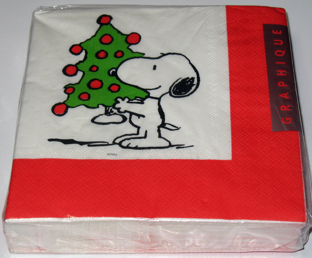 Snoopy Christmas Dinner Napkins (40 Napkins! Over 3 Times More Than Regular Packages!)