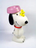 Snoopy Dog Dish Vinyl Squeeze Toy