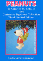 1989 Snoopy's Christmas Tree Christmas Ornament