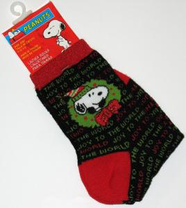 Snoopy Holiday Crew-Length Socks With Glitter Accents