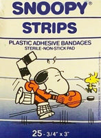 Snoopy Sports Strips Band-Aids - Hockey