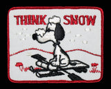 """THINK SNOW"" SNOOPY PATCH"