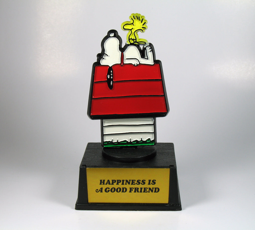 Happiness is a good friend trophy