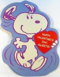 "Snoopy Valentine's Day Wall Decor - ""Happy Val. Day Sweetie"""