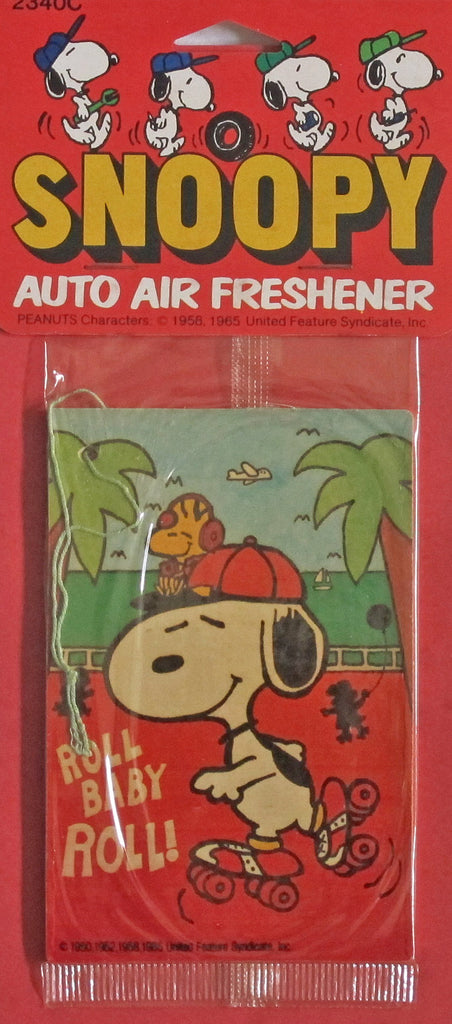 Snoopy Rollerskater Auto Air Freshener