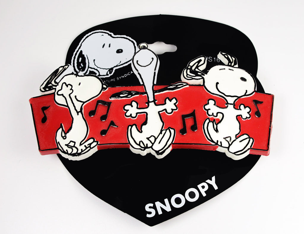 Snoopy Dancing Large Barrette