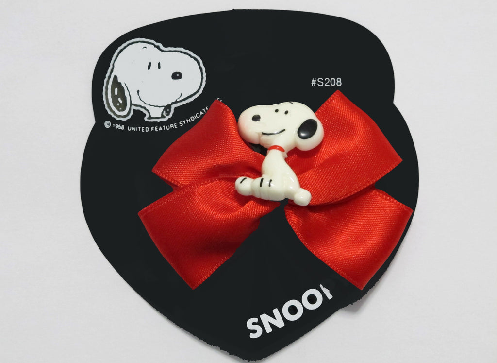 Snoopy Barrette With Satin Bow