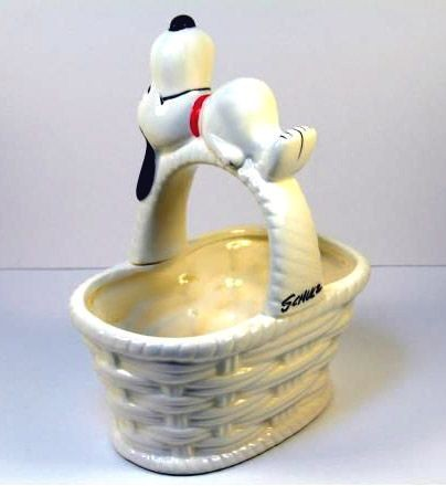Snoopy Ceramic Basket Planter