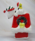 1987 Snoopy's Doghouse Bell Ornament - Charles Schulz Signature Series