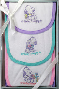 Baby Snoopy 3-Piece Burp Cloth Set