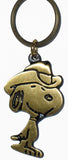 Snoopy Cowboy Brass Key Ring
