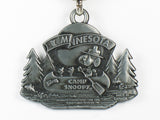Camp Snoopy Pewter Metal Key Ring