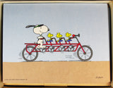 Snoopy and Woodstock Bicycling Blank Note Cards (Open Box)